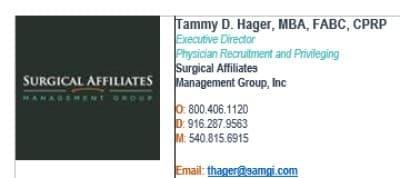 Tammy Hager Signature Line